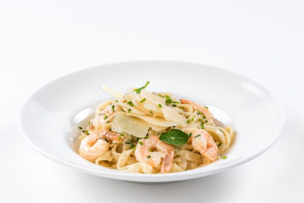 Creamy Tagliatelle with Shrimps