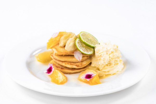 Pancakes with Fruits and Butter Liqueur