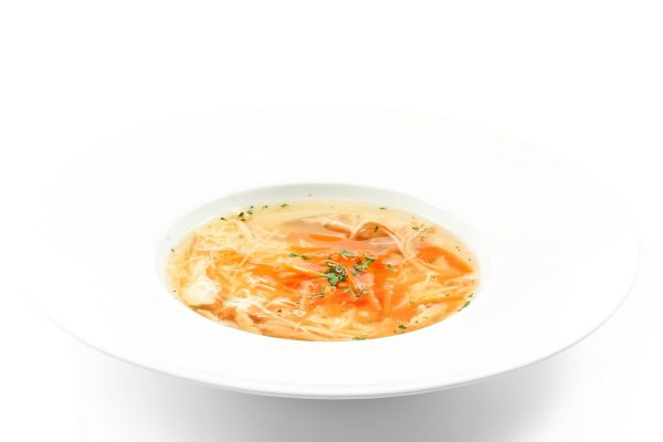 Cock Broth with Noodles